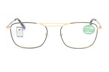 Airport Ready Reader-1565 2254 Black with Blue Light Filter