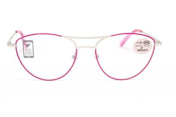Airport Ready Reader-1865 2122 Fuchsia/Silver with Blue Light Filter